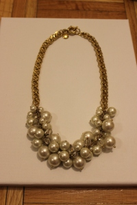 One of my best purchases ever! I wear this fabulous necklace with everything! It's J.Crew from several years ago.