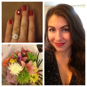 A little heart on the nail of my ring finger, gorgeous flowers from my love and getting dressed up for a Valentine's Day date...
