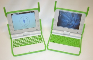 The laptops given to children as part of the One Laptop per Child program.