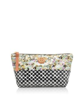 Obsessed with this seasons mixing prints...Loving this cosmetics case from Tory Burch