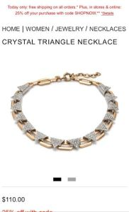 Crystaltrianglenecklace